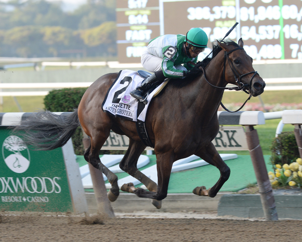 Artemis Agrotera Hits The Big Time With Victory In Grade 1 Frizette New York Thoroughbred Breeders Inc News New York Thoroughbred Breeders